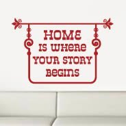 Home Story quote decals