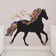 Horse In Bloom wall decals