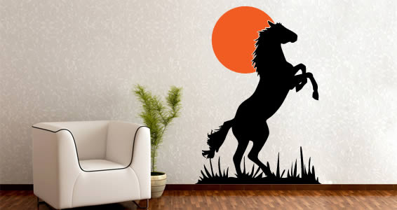 Wild Horse In The Sun cut out