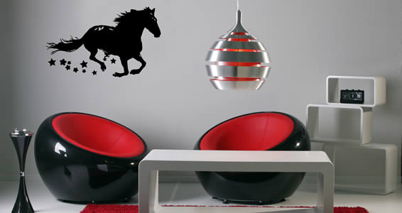 Magic Horse wall decals