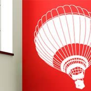 Hot Air Balloon vinyl wall art