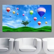 Hot Air Balloons Fields digital canvas