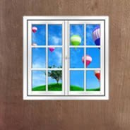 Hot Air Balloons Faux Window Murals