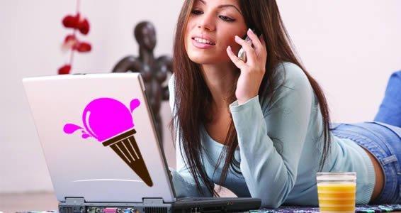 Got Ice Cream? laptop stickers skin