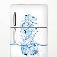 Ice Cubes Dry Erase Fridge Decal Skins