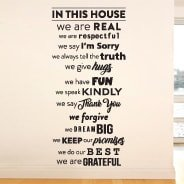 In This House wall stickers