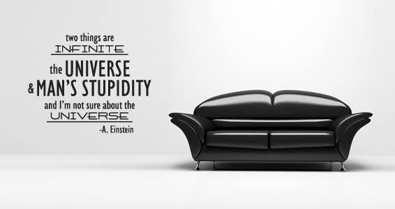 Infinite Einstein quote decals