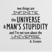 Infinite Einstein quote decals