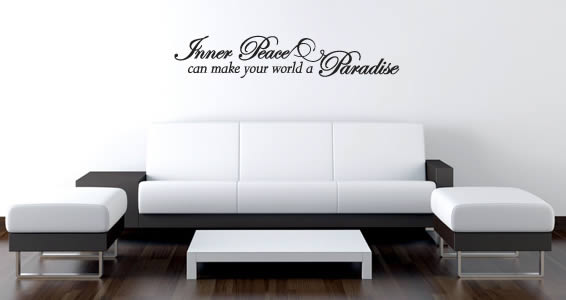 Inner Peace quote decals