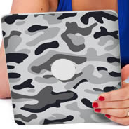 Grey Camo iPad tablet Decals skin