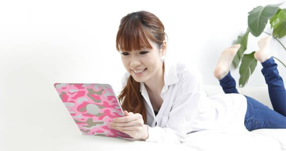 Pink Camo Ipad tablets decals skin