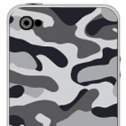 Grey Camo Iphone decals skin