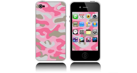 Pink Camo  iPhone decals skins