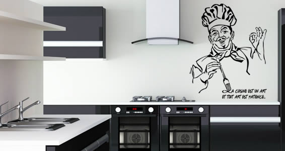 Comme Un Chef wall decals