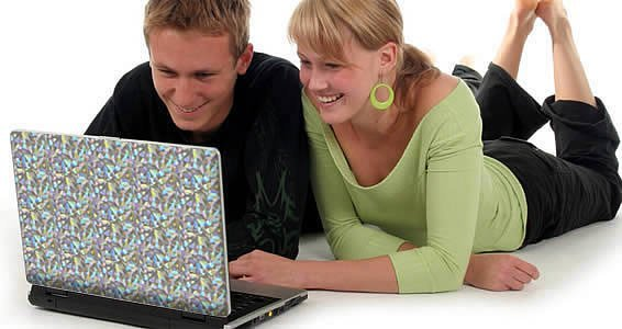 Kaleidoscope skin for laptop