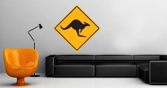 Kangaroo wall decal