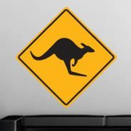 Kangaroo sign wall decal