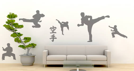 Karate Moves wall decals