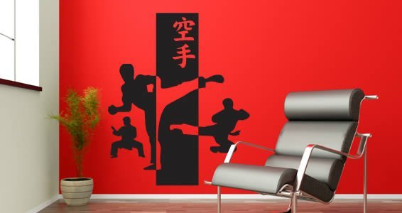 Karate vinyl wall decals