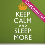 Personalized Keep Calm wall decals