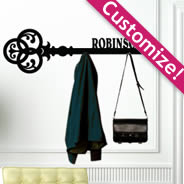 Personalized Key Hanger Rack wall decals