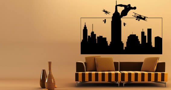 Large wall decals - Gorilla King Kong
