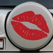 Kiss and Kool car sticker