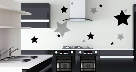 Stars vinyl wall decals
