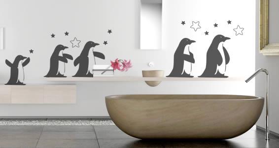 Penguin Wall Decals Dezign With A Z