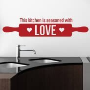 Kitchen Love wall quote decal