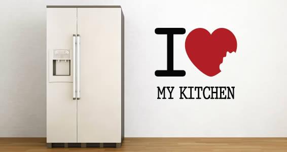 I LOVE My Kitchen decal vinyl stencils