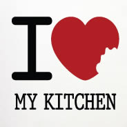 I LOVE My Kitchen decal vinyl stencils