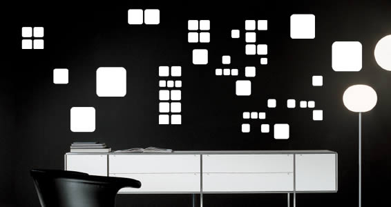 Squares contemporary wall decals