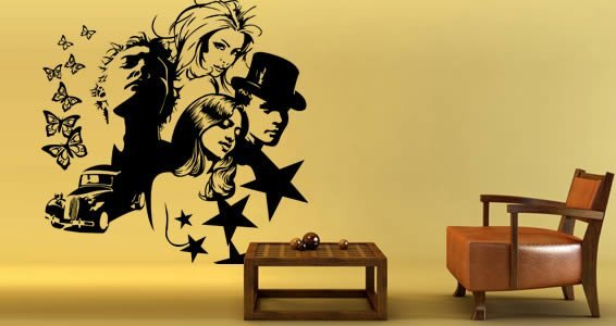 Komposing removable wall decals