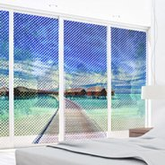 Blue Lagoon see through  window decals