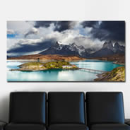 Moutain Lake Pehoe wall canvas