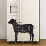 Lamb Chops Decals Fridge Skins