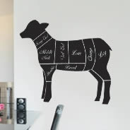 Lamb Cuts wall decals