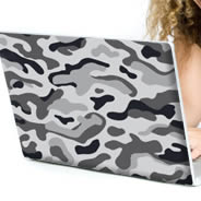 Grey Camo laptop decals skin