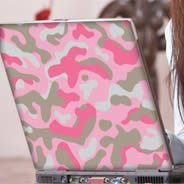 Pink Camo laptop decals skin