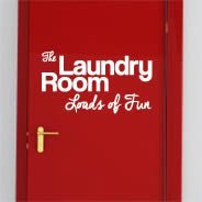 Laundry Fun wall decal