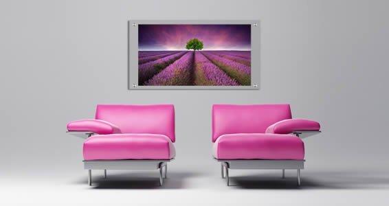 Lavender Tree Sky Plexiglass Stand Off