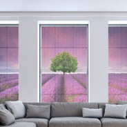 Lavender Fields see through window decals