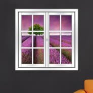 Lavender Fields Faux Window Murals