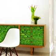 Green Leaves decal Dry Erase Furniture Skins