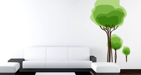 Cotton Trees wall decals