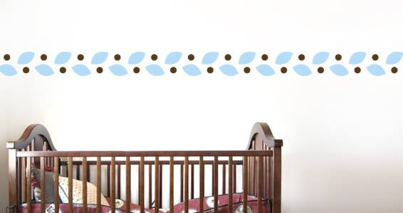 Leaves border wall decals