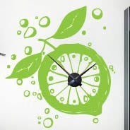 Lemon Clock wall sticker