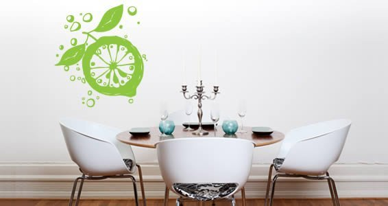 Lemon wall decals