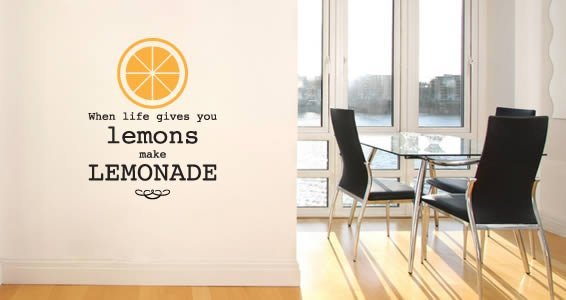 Bicolor Lemons quote wall decal